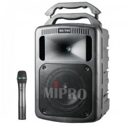 ENCEINTE AMPLIFIE PORTABLE 100W avec CD, Micro HF et entr'e USB